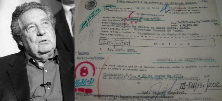 """""""La renuncia que nunca fue. La trampa de Octavio Paz"""", texto de Jacinto Rodríguez Munguía - Aristegui Noticias"""