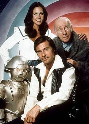 Buck Rogers TV Series 1979 - 1981 Standing Erin Gray, Wilfrid Hyde-White, Felix…