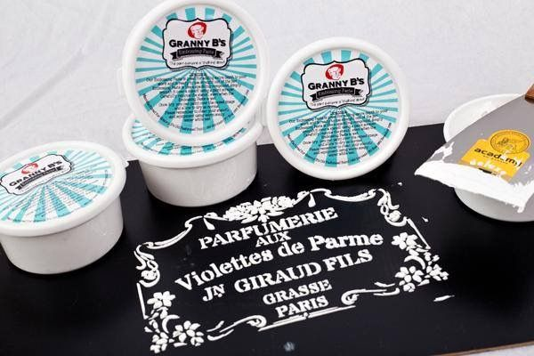 Embossing Paste for raised stenciling by Granny B's