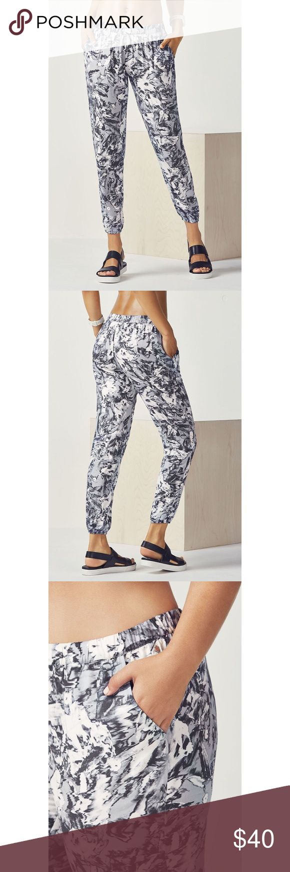 Fabletics Emily Jogger Emily Jogger-  NWT never worn  Color:	Grey Monarch Print Size:	M8 Low Stock Inseam:	Short26 Fabletics Pants Track Pants & Joggers
