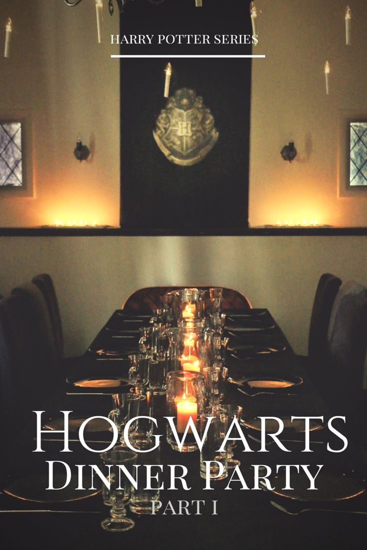 How to throw a Harry Potter Hogwarts inspired dinner party | Food in Literature - Recipes inspired by novels and children's books
