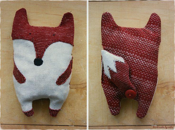 Fox with heating cherry seeds