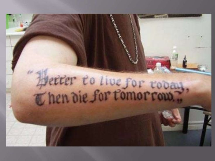 Bad Grammar Tattoos