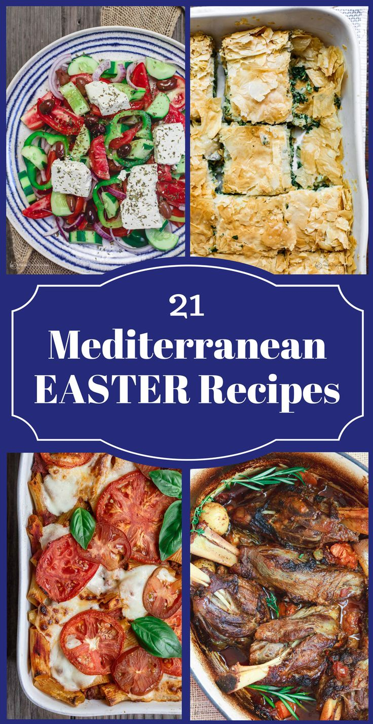 All-Star Mediterranean Easter Recipes! From leg of lamb, Greek potatoes, spanakopita, baked pasta, to bright and unique salads, bakalava, Greek honey cake and more! There something for everyone on this list of Easter recipes. Why not give your Easter menu and delicious Mediterranean twist with these foolproof recipes?!