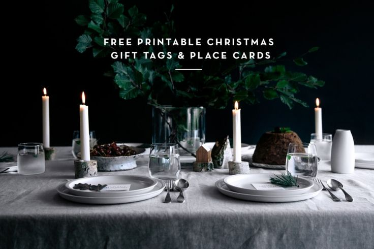 Free Printable Christmas Gift Tags & Place Cards