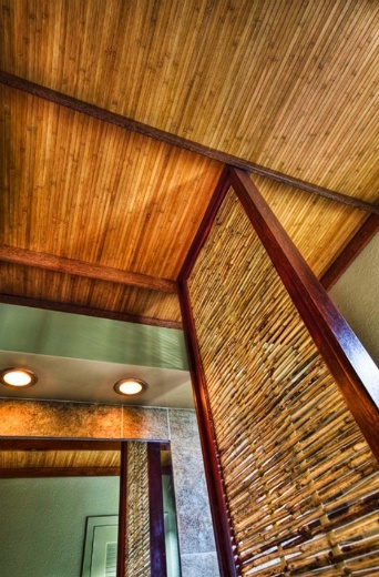 Bamboo Fencer - Room ceilings. Idea for upstairs and downstairs bathrooms.