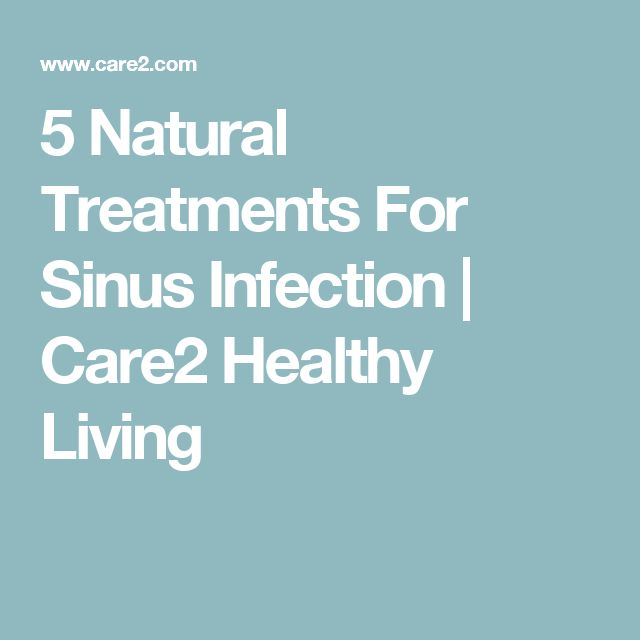 5 Natural Treatments For Sinus Infection   Care2 Healthy Living