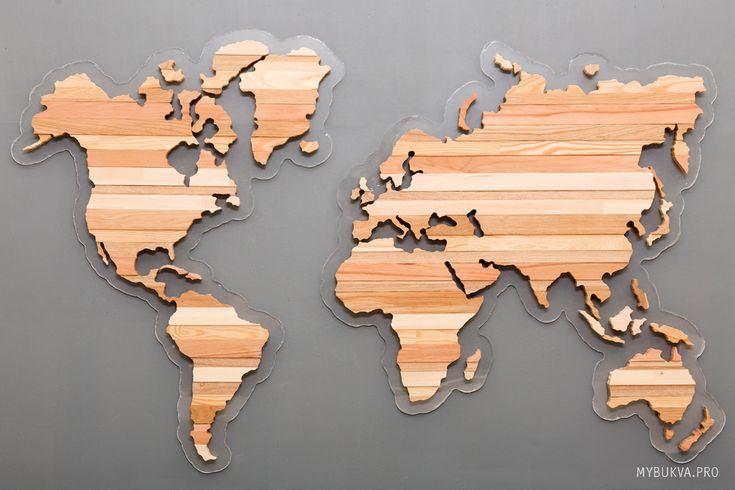 wooden world map zebra. карта мира из дерева