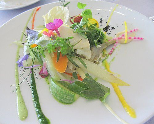 This is one spectacular plate of veggies (a la Michel Bras)