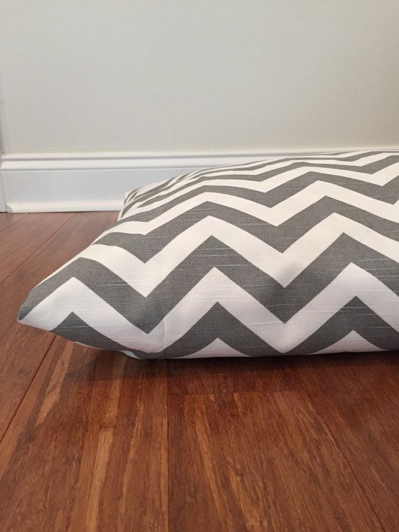 Chevron Dog bed cover Gray Dog bed cover Gray by PlushPupdogbeds