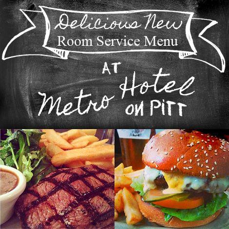 Delicious NEW Room Service menu options @ Metro Hotel on Pitt: http://www.metrohotels.com.au/hotels/new-south-wales/metro-hotel-on-pitt/restaurant-bar/ Hotel: http://www.metrohotels.com.au/hotels/new-south-wales/metro-hotel-on-pitt/welcome/
