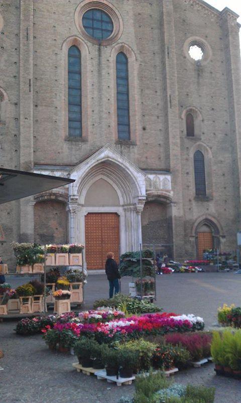 Buongiorno a tutti da qui: tutti i martedì mattina mercato dei  fiori in piazza S. Francesco :-) Bologna