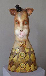 Modern Sculpture - Cat ... zoon van Alex Johanson