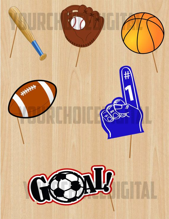 21 Sports Digital Photo Booth Props Clip Art by YourChoiceDigital