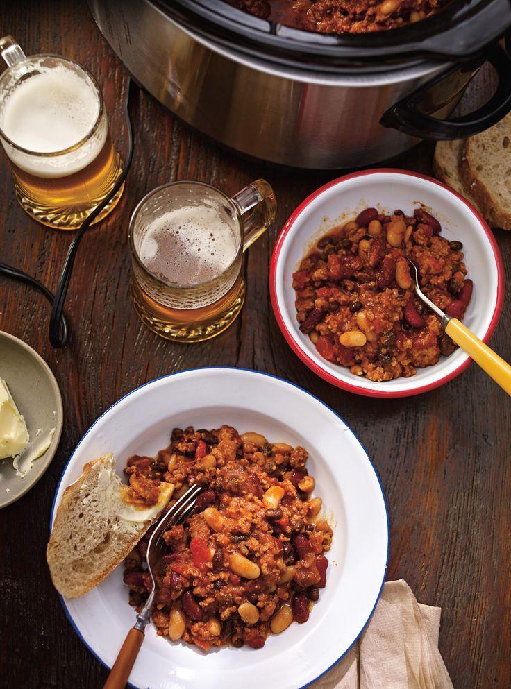 Recette de Ricardo de chili de porc aux trois haricots