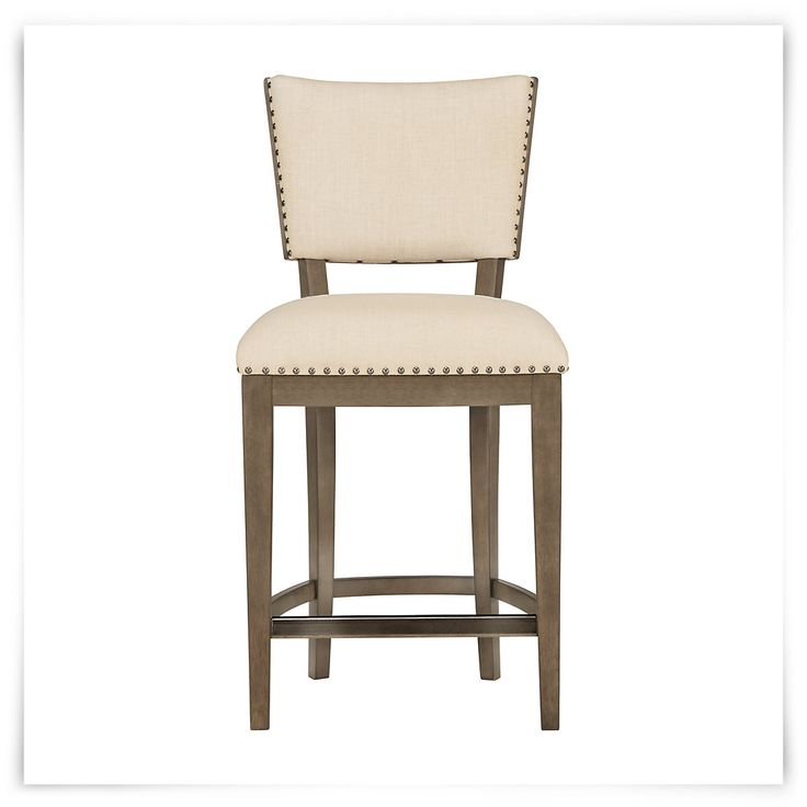 Preston Gray 24 Quot Upholstered Barstool Walnut Veneer