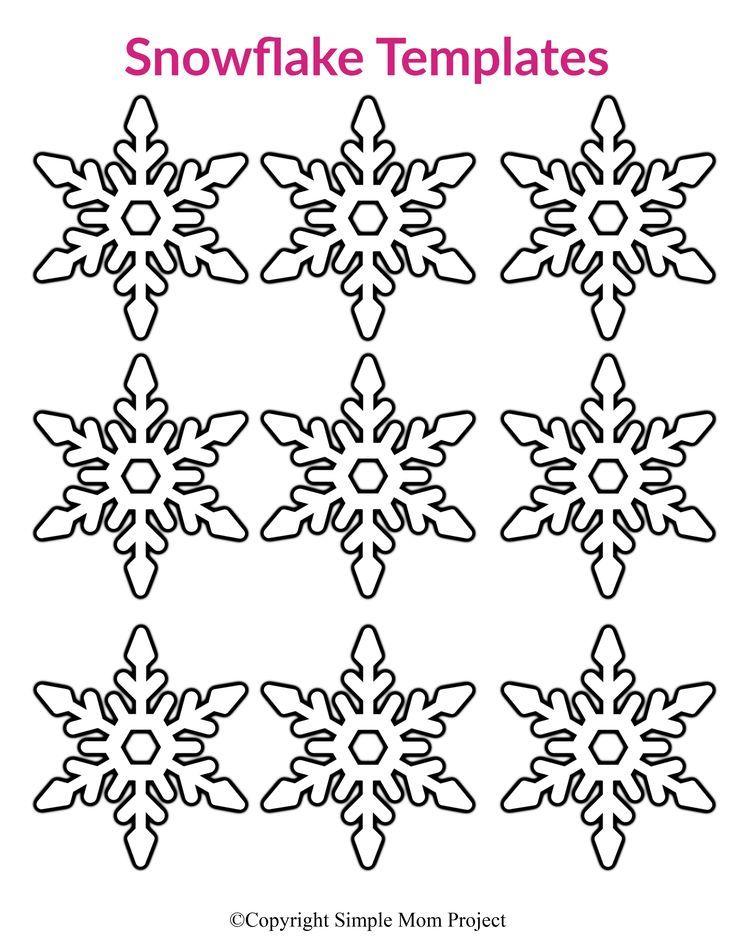 Free Printable Small Snowflake Templates Snowflake Template