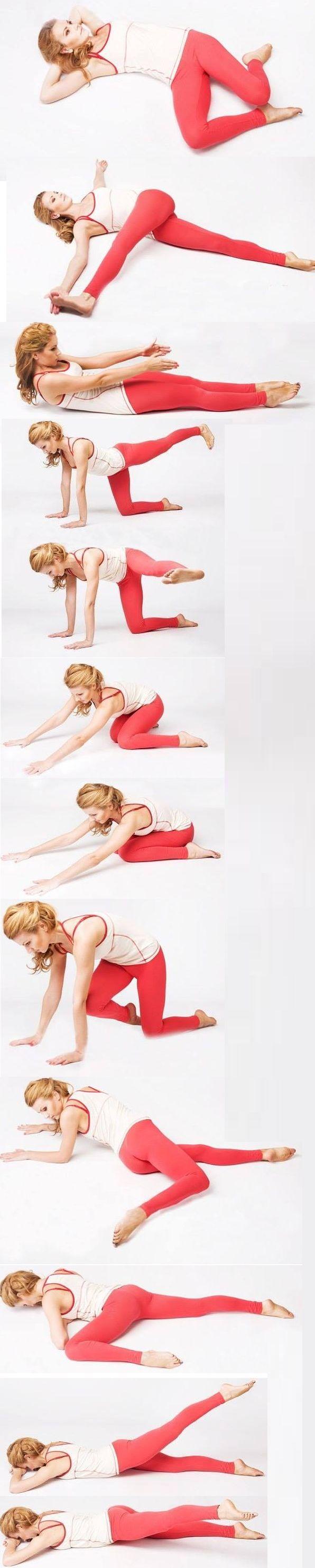 Упражнения для здоровья спины‼  Находитесь в каждом положении по 1 минуте