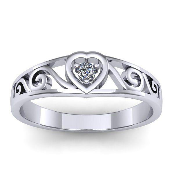 Inelul este realizat din aur alb 14k, greutate: ~2.30gr. Produsul are in componenta sa: 1 x diamant, dimensiune: ~3.00mm, greutate: 0.10ct , culoare: G, claritate: VS2, forma: round