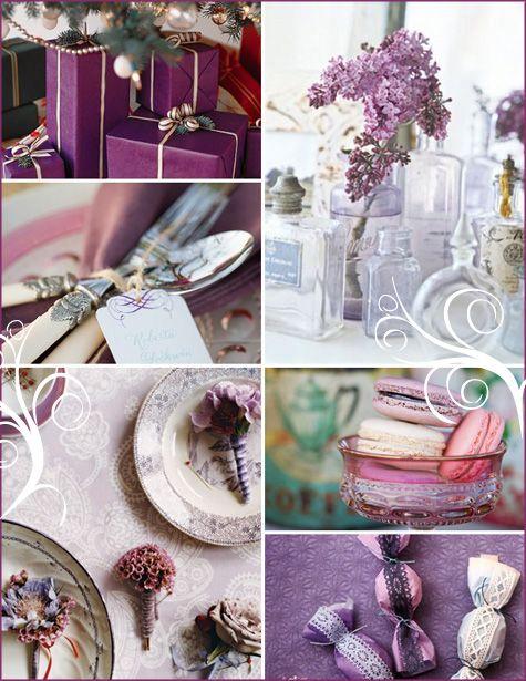 Purple & White Winter Shower Bridal
