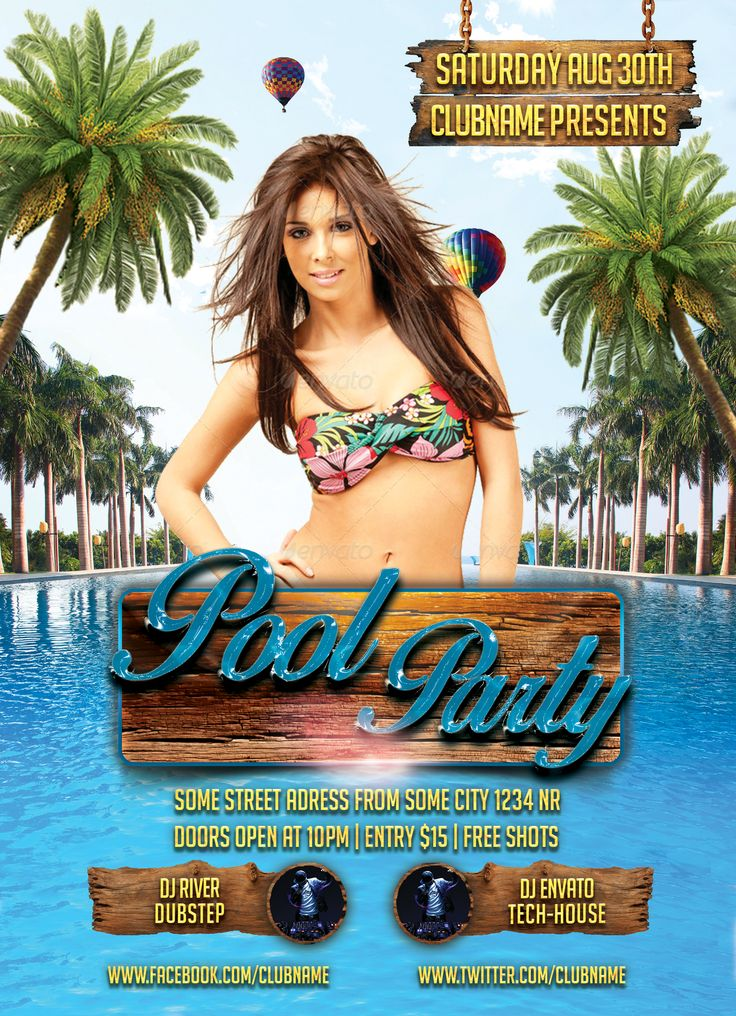 You can buy exclusively from: http://graphicriver.net/item/pool-party/8751080