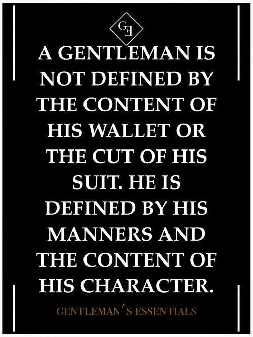 A Gentleman. Absolutely.