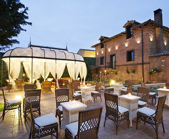 Terrace Of Boutique Hotel In Rioja