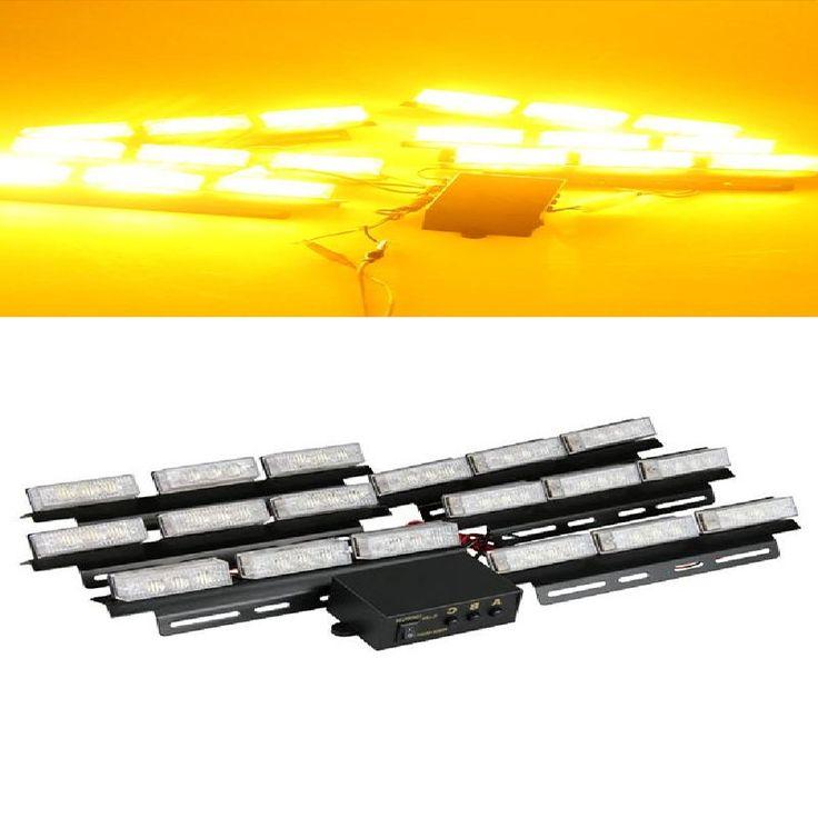 29.58$  Watch now - https://alitems.com/g/1e8d114494b01f4c715516525dc3e8/?i=5&ulp=https%3A%2F%2Fwww.aliexpress.com%2Fitem%2FSet-Yellow-54-LED-Strobe-Dash-Deck-Emergency-Flashing-Warning-Light-for-Car%2F32224502734.html - CARCHET Set Yellow 54 LED Strobe Dash Deck Emergency Flashing Warning Light for Car Emergency LED Light DC 12V 5W  29.58$