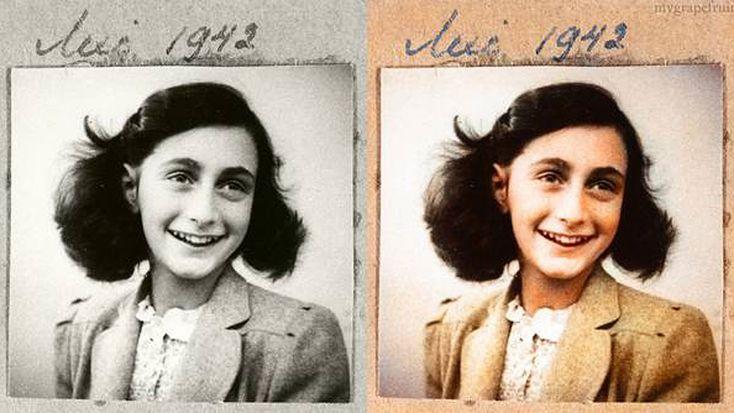 Históricas fotos en blanco y negro aparecen en color: Anna Frank, Color, Black And White, Anne Frank Holocaust, Anne Frankholocaust, Históricas Fotos, Photo, Histórica Foto