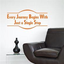 Every Journey Begins - Wallstickers fra NiceWall.dk