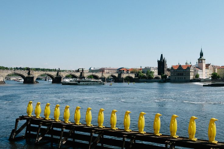 Prague - funny view to Charlys-Bridge