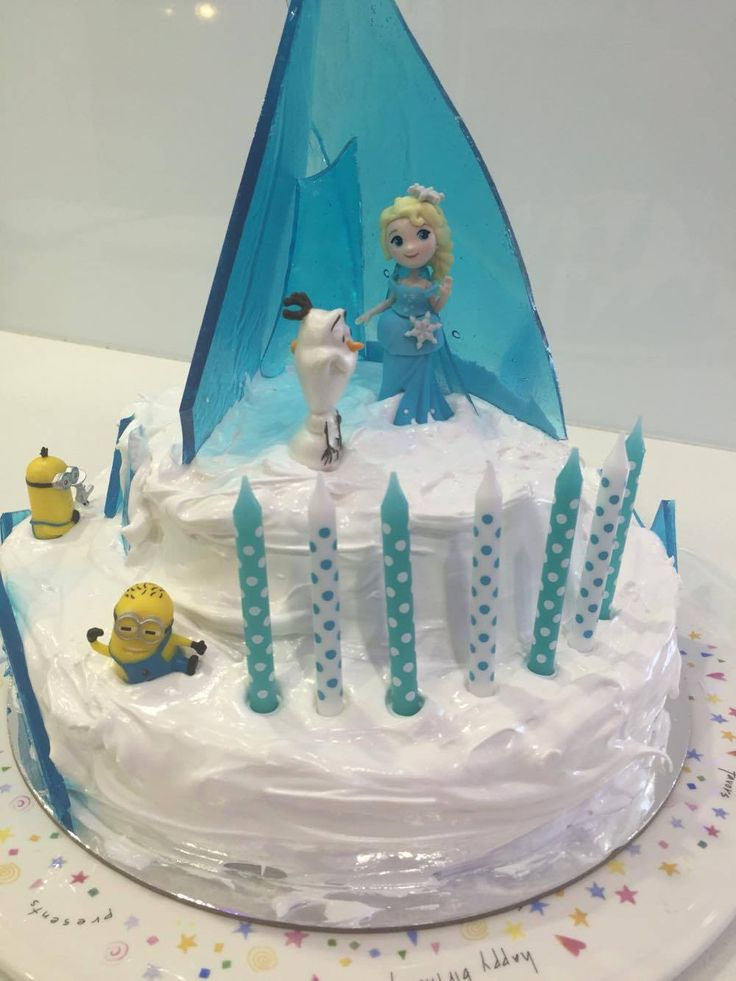 Frozen cake (with Minions)