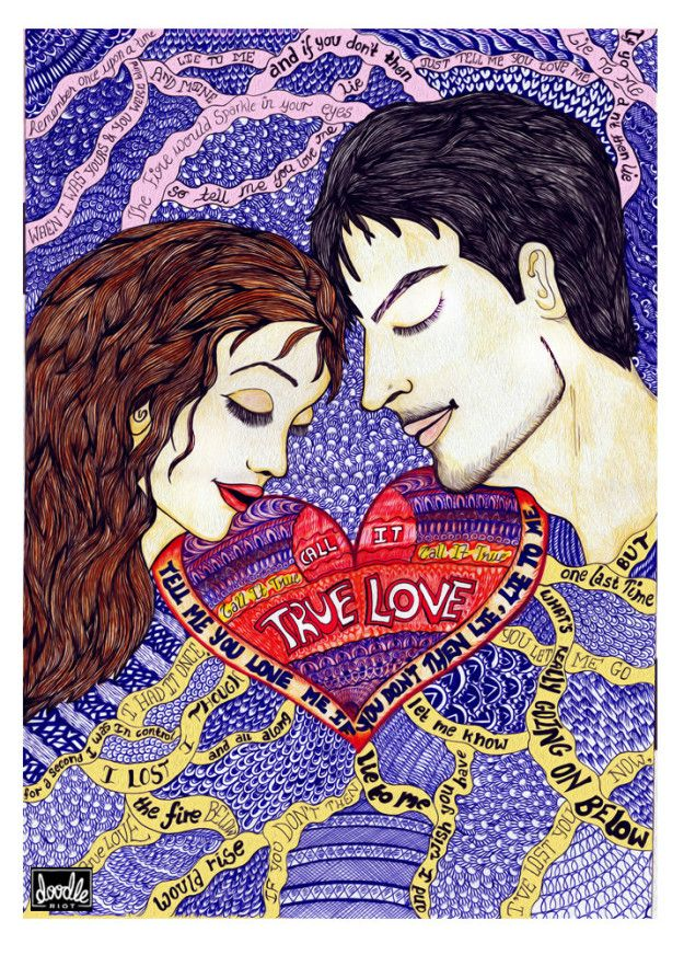 """""""True Love""""   This Artist's Intricate Doodles Of Coldplay Lyrics Are Goddamn Gorgeous"""