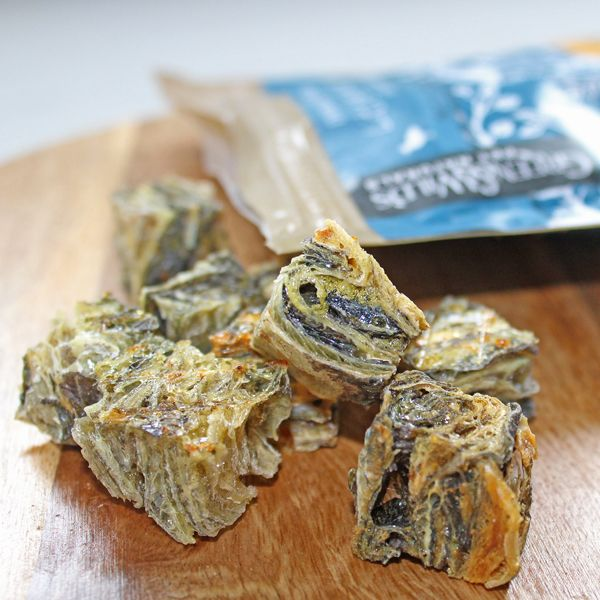 Green & Wild's Little Fish Cubes. Low Fat! Super high in Omega 3 Great for teeth – helps remove Tartar.