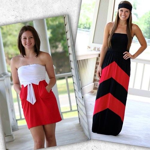 Gameday Restocks  New Arrivals coming tonight @ 8pm CST!! Restocking our black  red chevron maxis and also have a brand new red  white strapless Gameday design in #getexcited #gameday #collegesports #footballseason #ootd #beautyandstyle #blackandred #redandwhite #fashion #newarrivals #restocks #retailtherapy #cuteandcomfy #instafashion #instastyle #freeshipping  (at http://www.hazelandolive.com/)