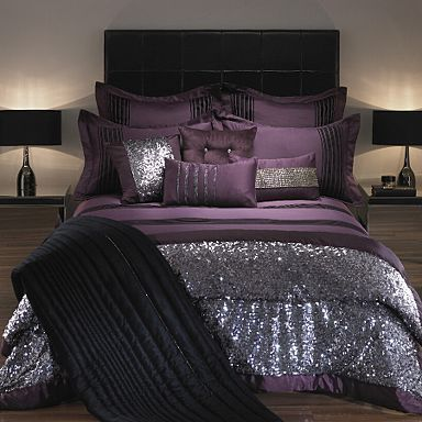 glittery bedroom set home decor glitter bed purple silver design interior