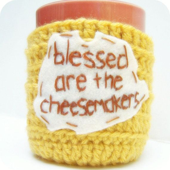 Tea Cup Coffee Cozy Coffee Mug Blessed van KnotworkShop op Etsy, $16.00