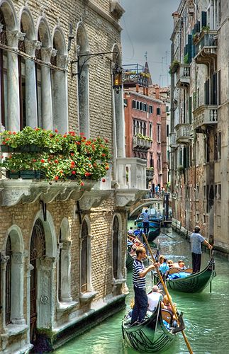 Venice <3 Literally took a picture of this exact same balcony last month while i was there!