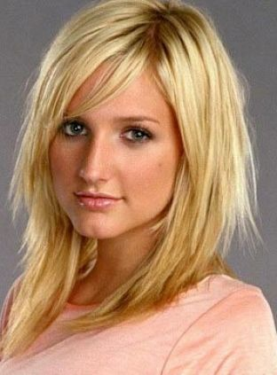 Choppy Haircuts With Bangs   Choppy layered hairstyles with side bangs pictures 2