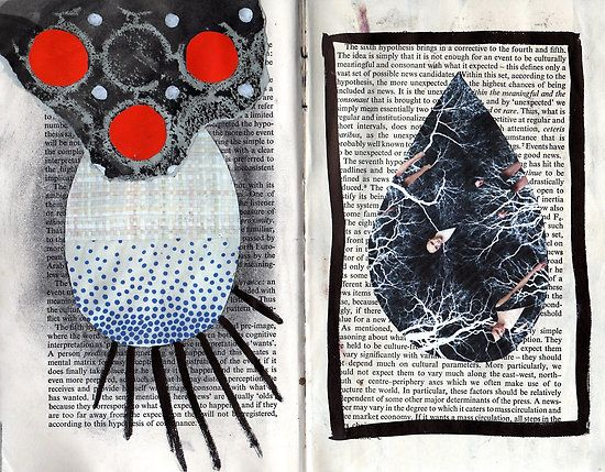 double page spread from a recent altered book project