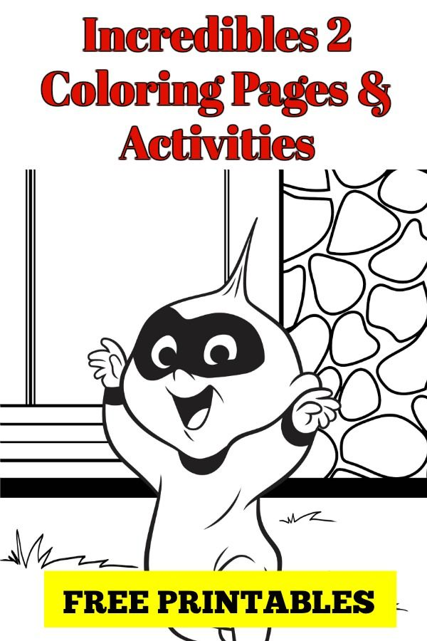 Incredibles 2 Printable Coloring Pages And Activities Coloring Pages Printable Coloring Pages Craft Activities For Kids