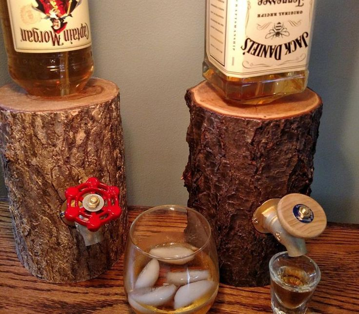 The Liquor Log Dispenses Your Booze Through An Actual Log