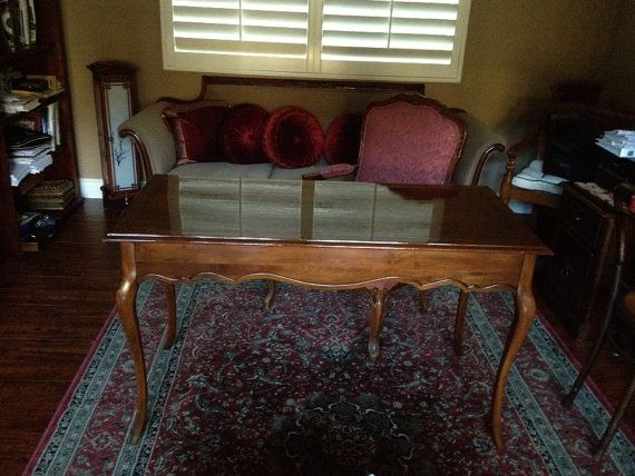 Good French Provincial Wood Desk And Chair On Etsy, $399.00