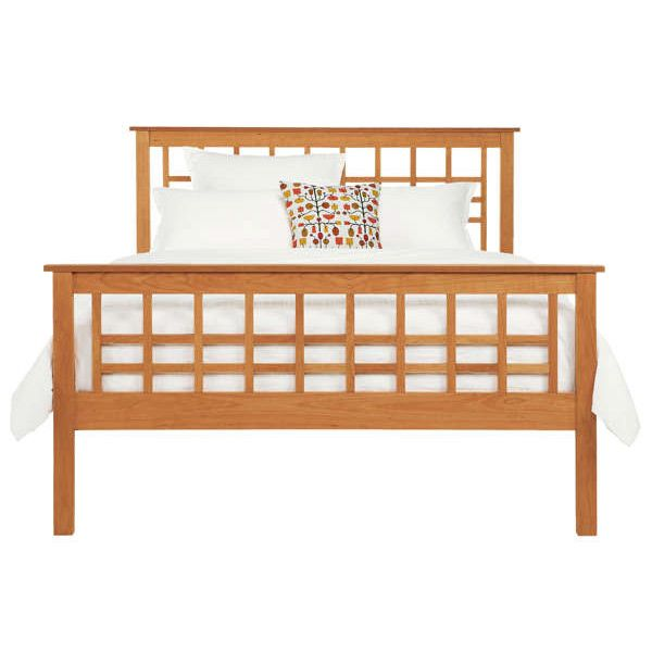 Modern Craftsman High Footboard Bed Shown In Cherry Available At Vermont  Woods Studios