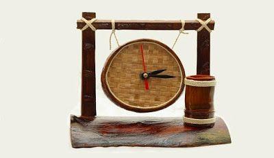 jam kerajinan tangan dari batok kelapa