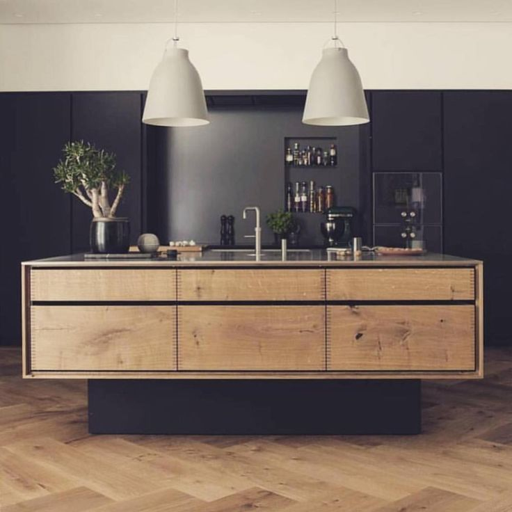 "2,161 Likes, 13 Comments - ELLE Decoration UK (@elledecorationuk) on Instagram: ""Black, white and wood looking very contemporary. Photographer @kimhznga via @kitchens_of_insta . .…"""