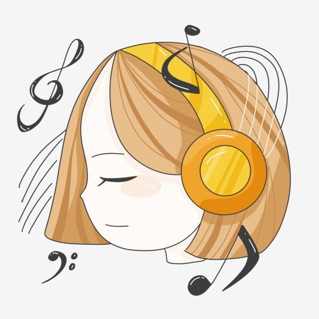 Girl Listening Music With Headphones Music Clipart Girl With Headphones Png Transparent Clipart Image And Psd File For Free Download Music Clipart Disney Drawings Sketches Cartoon Giraffe