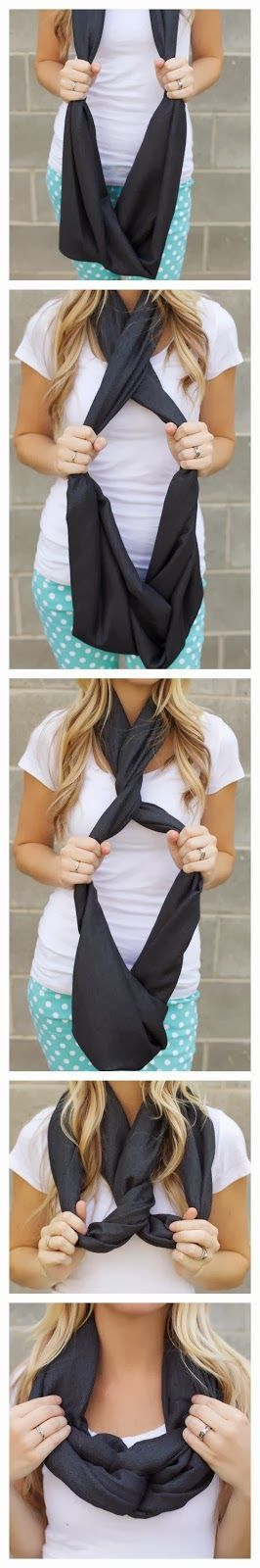 Infinity Scarf Knot Styles