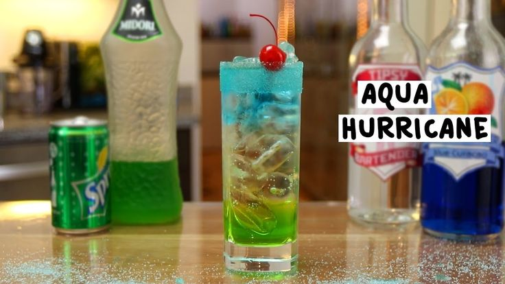 AQUA HURRICANE 1 oz. (30ml) Melon Liqueur 1 oz. (30ml) Strawberry Vodka ½ oz. (15ml) Blue Curacao ½ oz. (15ml) Simple Syrup 3 oz. (90ml) Lemon Lime Soda Blue Sugar PREPARATION 1. Rim edge of glass with blue sugar. Set aside. 2. In an ice filled glass combine melon liqueur and simple syrup. Stir well. Pour into base of glass and top with ice. Add lemon lime soda. 3. In an ice filled glass mix strawberry vodka and blue curacao and float on top. 4. Garnish with cherry. DRINK RESPONSIBLY!