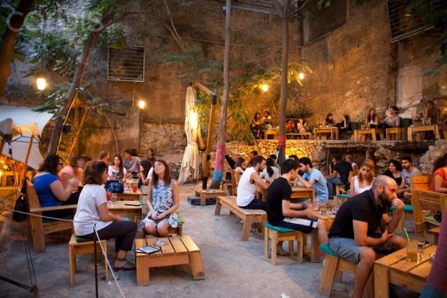 Six dogs cafe bar, Athens, Greece
